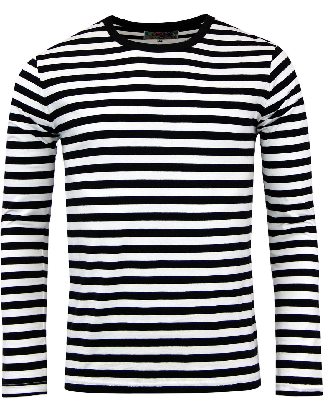 Retrorocket retro 1960s mod stripe long sleeve t shirt in for Retro long sleeve t shirts