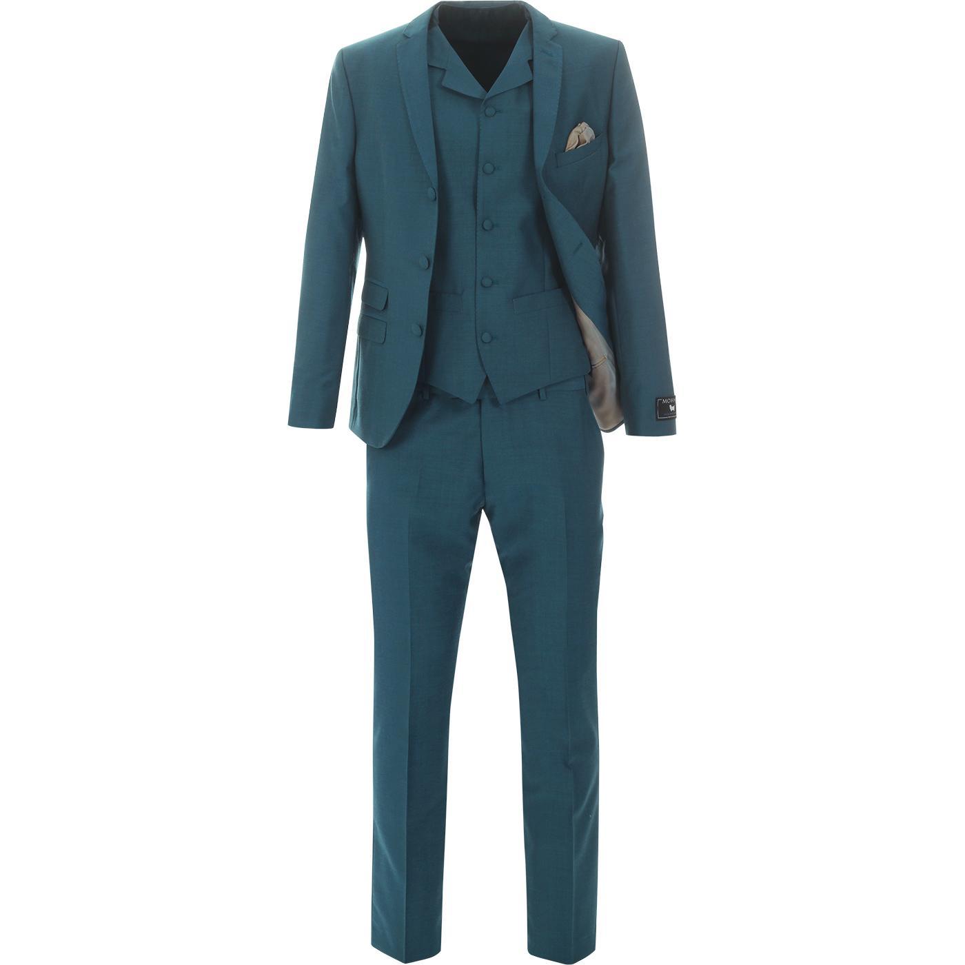 MADCAP ENGLAND 60s Mod 2/3 Piece Suit in Teal