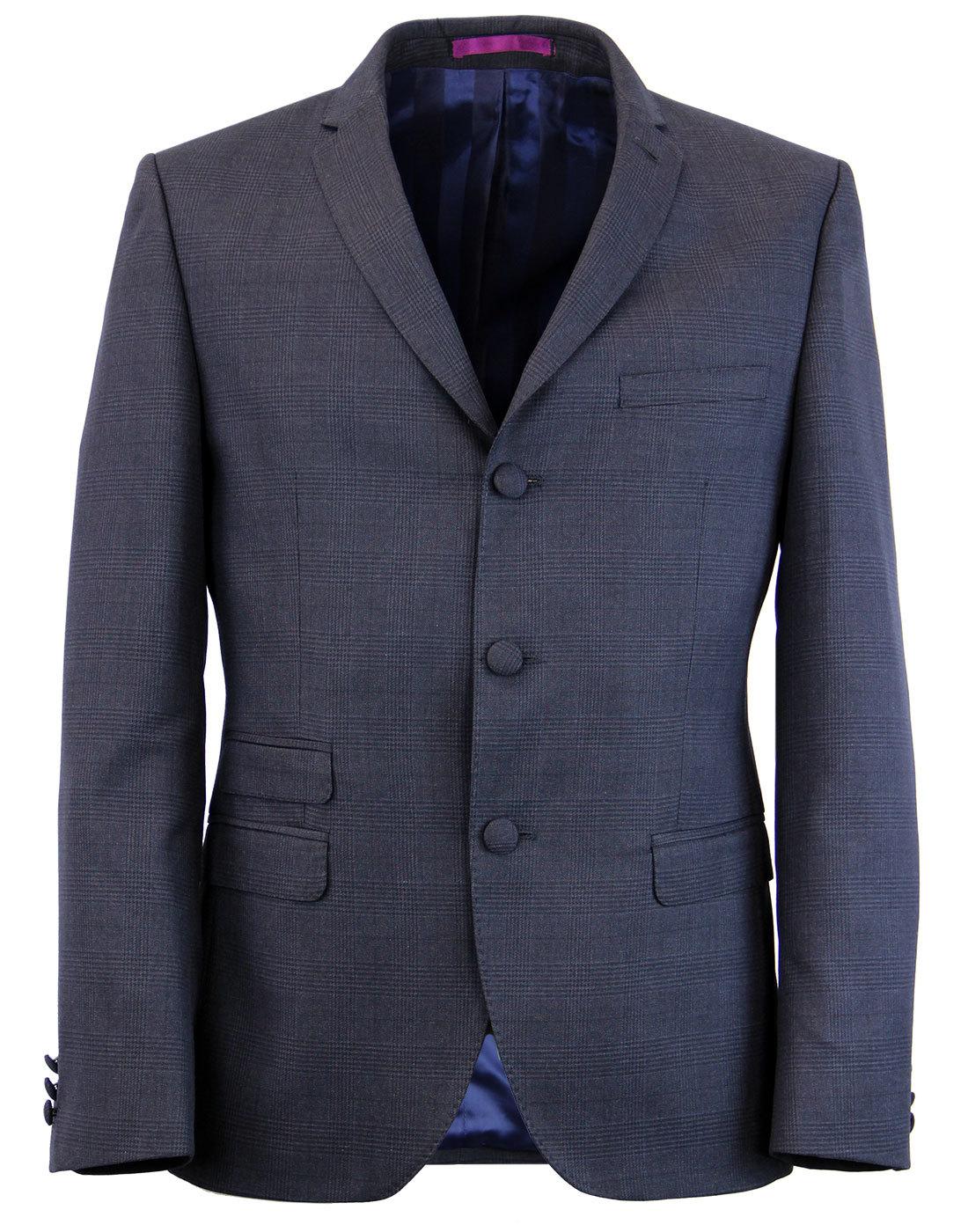 MADCAP ENGLAND 60s Mod Check 3 Button Suit Jacket