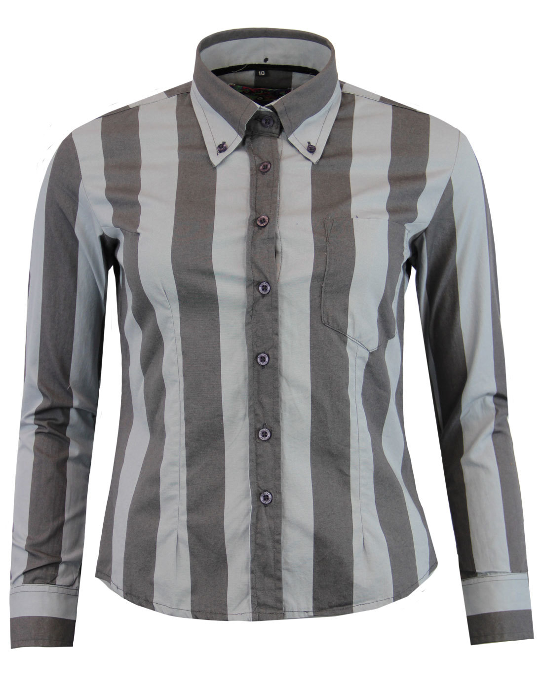 madcap england sunflower womens stripe shirt grey