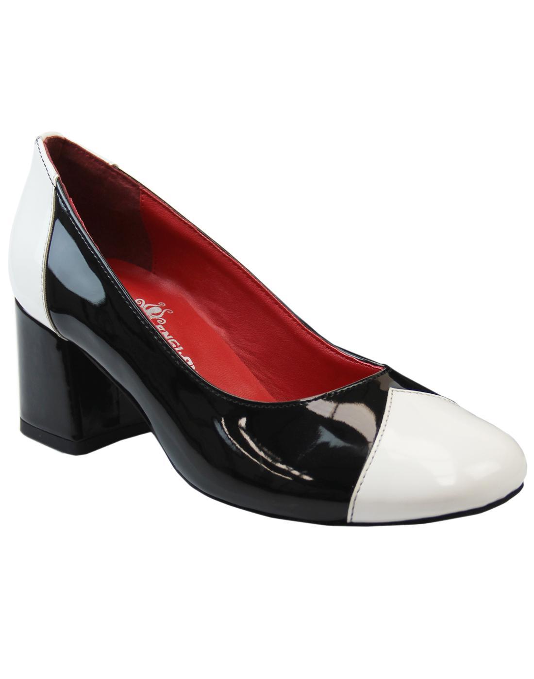 Madcap England Womens Retro 60s Mod Shoes Black