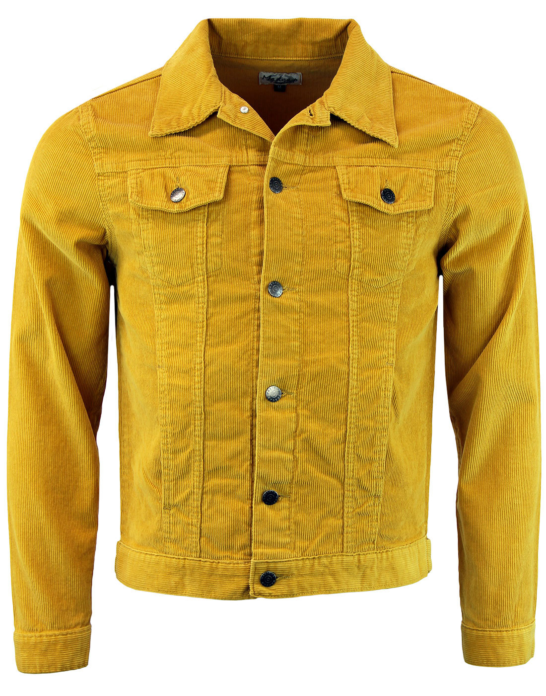 Woburn Retro 1960s Mod Mens Slim Fit Cord Jacket In Gold