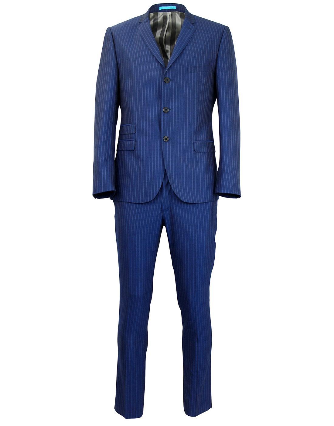 MADCAP ENGLAND Pinstripe 2 or 3 Piece Mod Suit