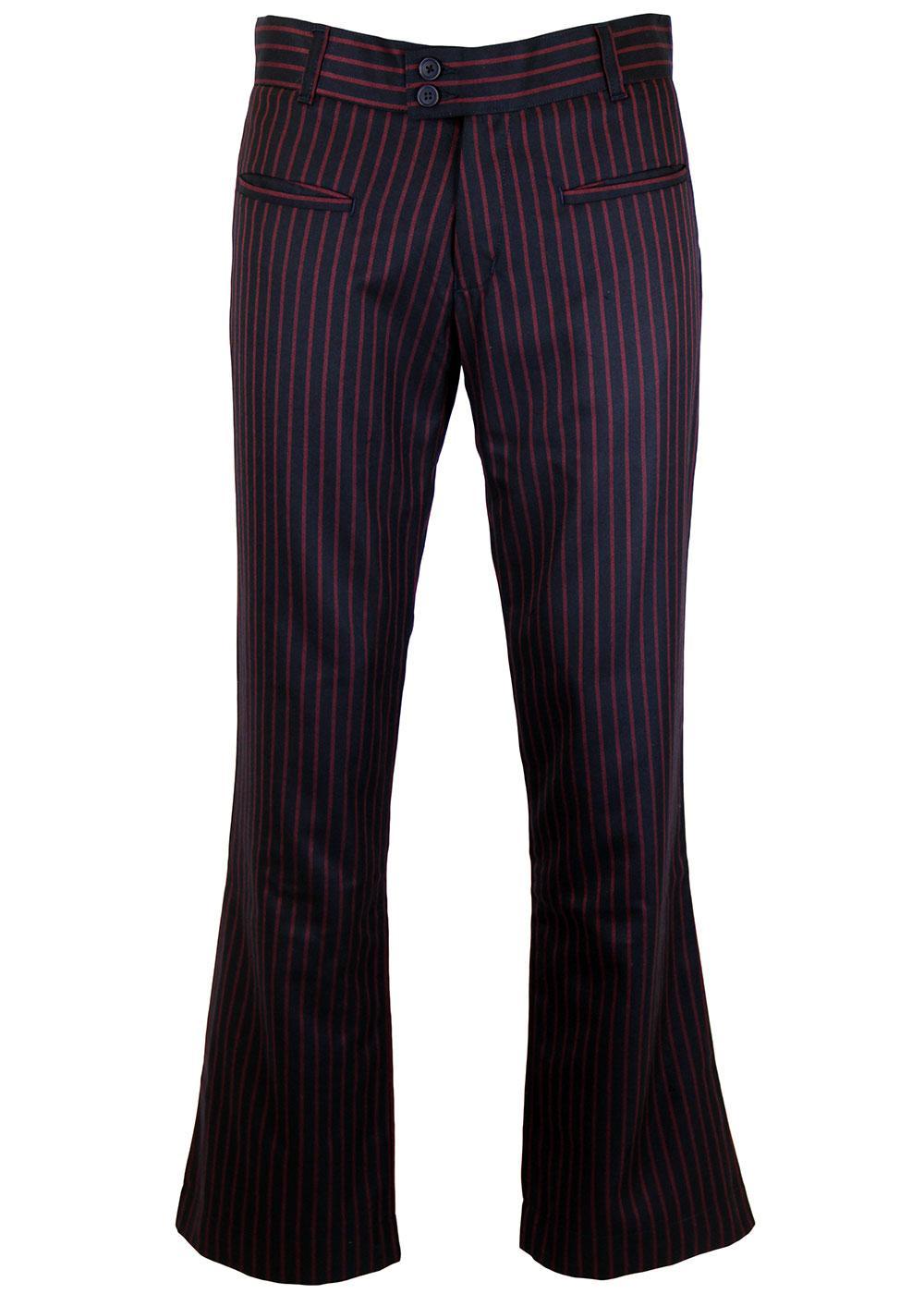 MADCAP ENGLAND Goldhawk Retro Kick Flare Trousers