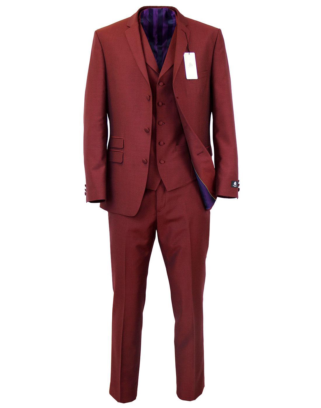Madcap England Retro Mod 3 Piece Mohair Suit