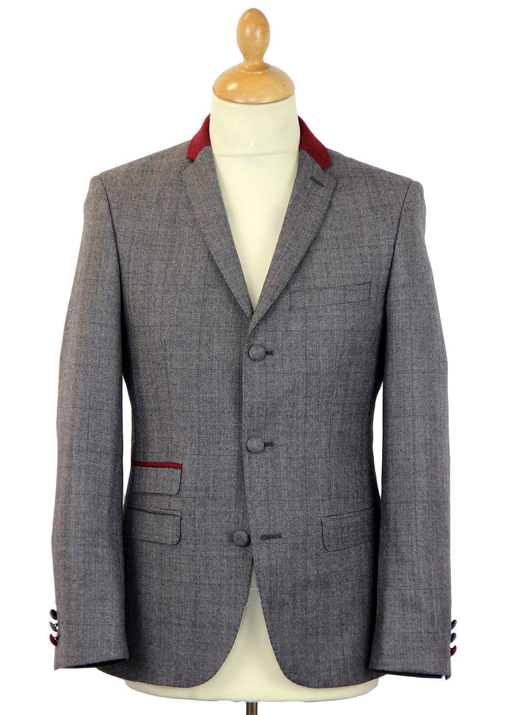 Redford MADCAP ENGLAND 3 Button Check Suit Jacket