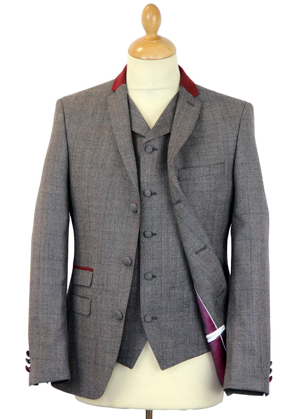Redford MADCAP Retro 2 or 3 Piece Check Mod Suit