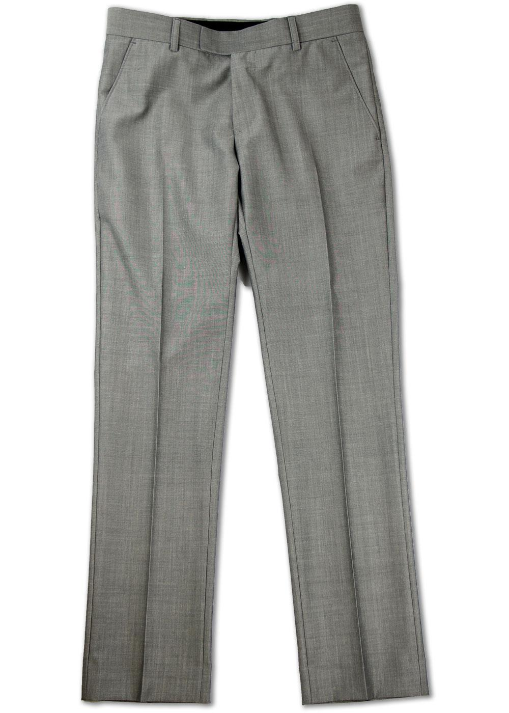 MADCAP ENGLAND Mod Silver Mohair Tonic Trousers