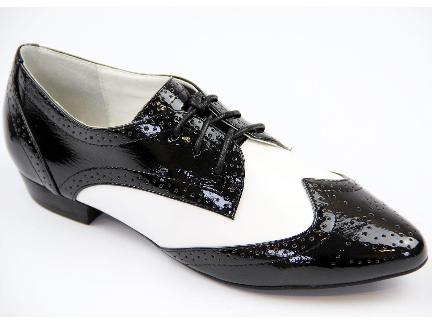 madcap womens retro 60s glenda brogue shoes in