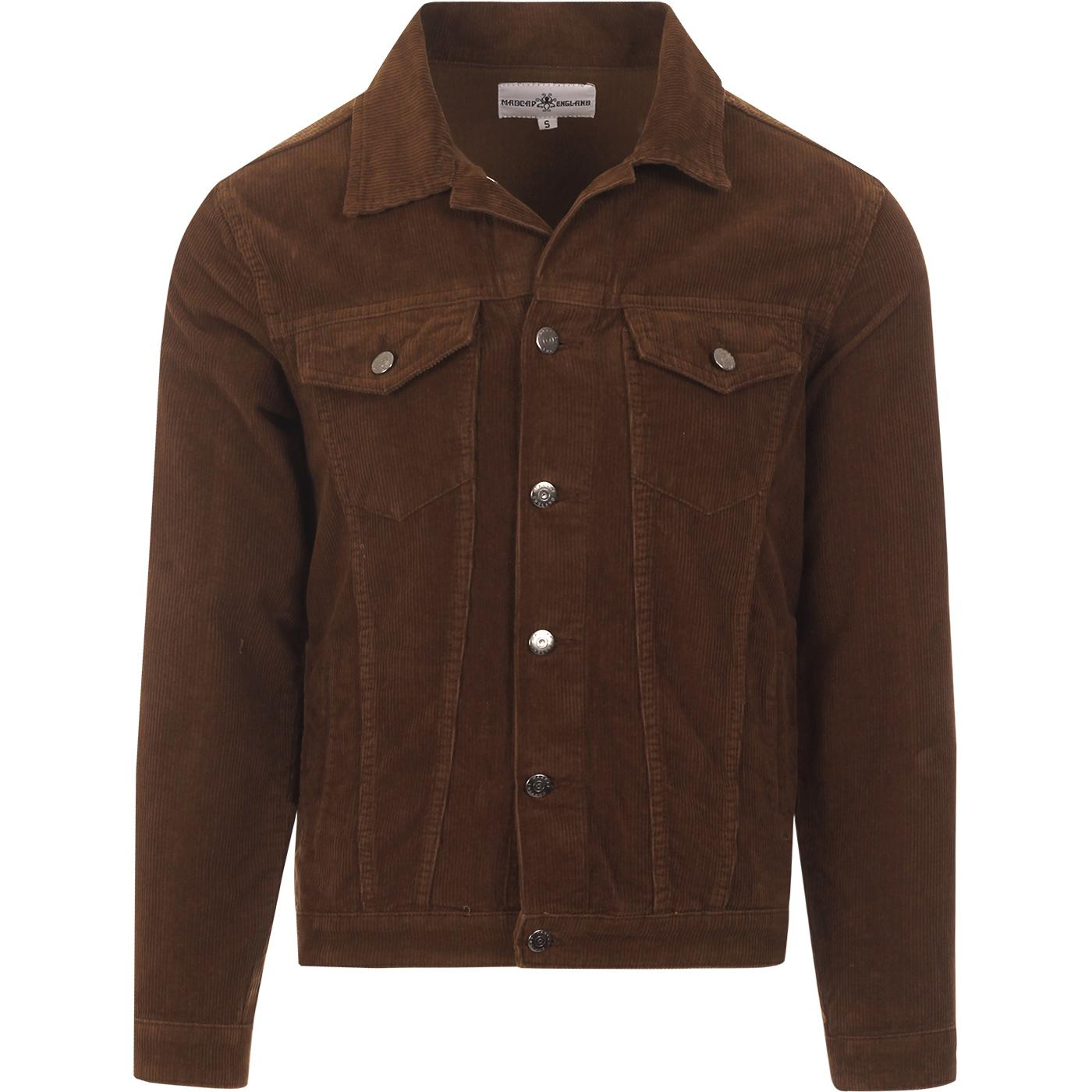 madcap england mens woburn mod cord western jacket choc brown