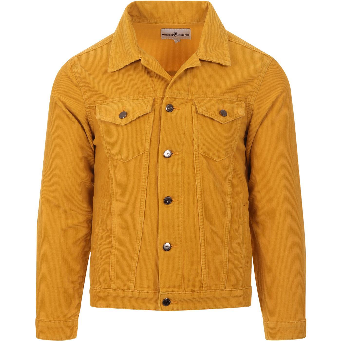 madcap england mens woburn mod cord western jacket gold