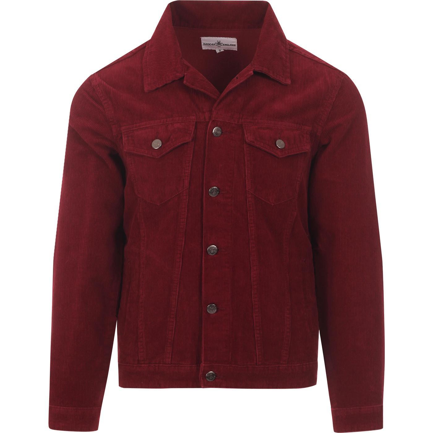 madcap england mens woburn mod cord western jacket tawny port