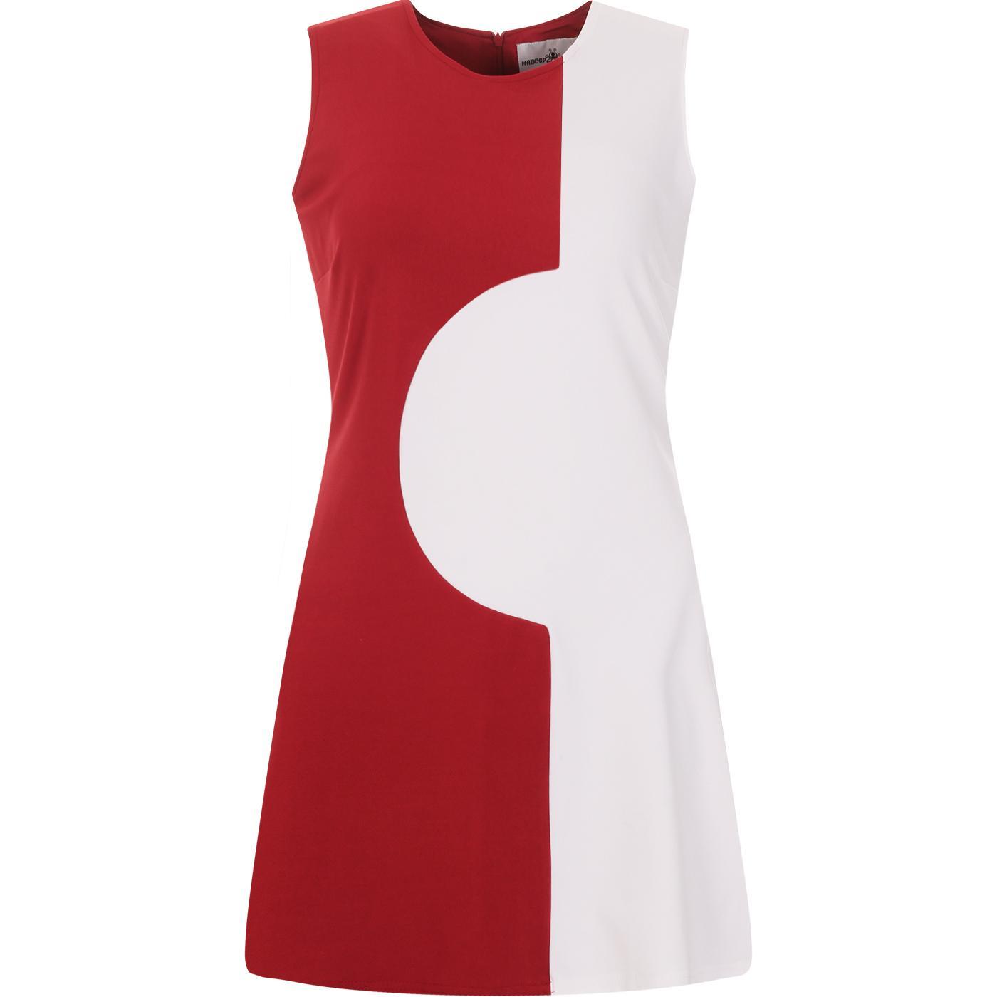 madcap england womens golightly 60s two tone mod dress black red
