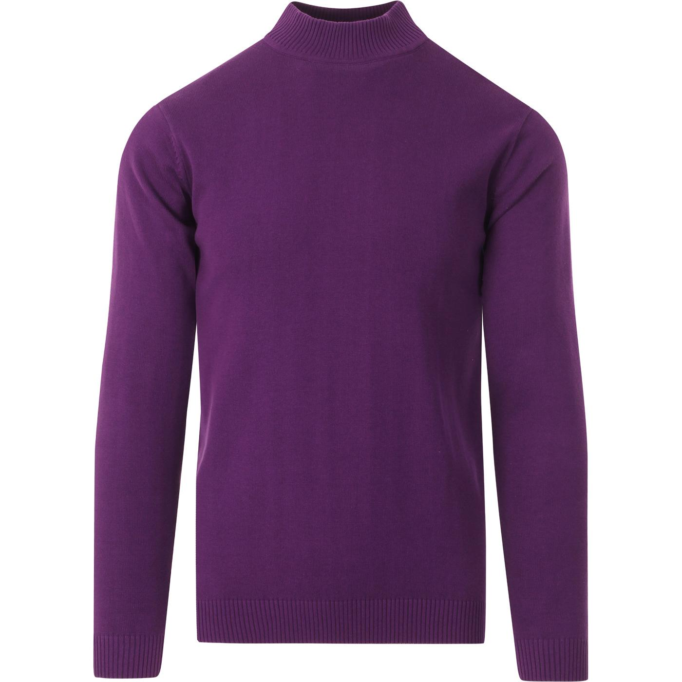 madcap england mens eastwood slim fit turtleneck knitted top imperial purple