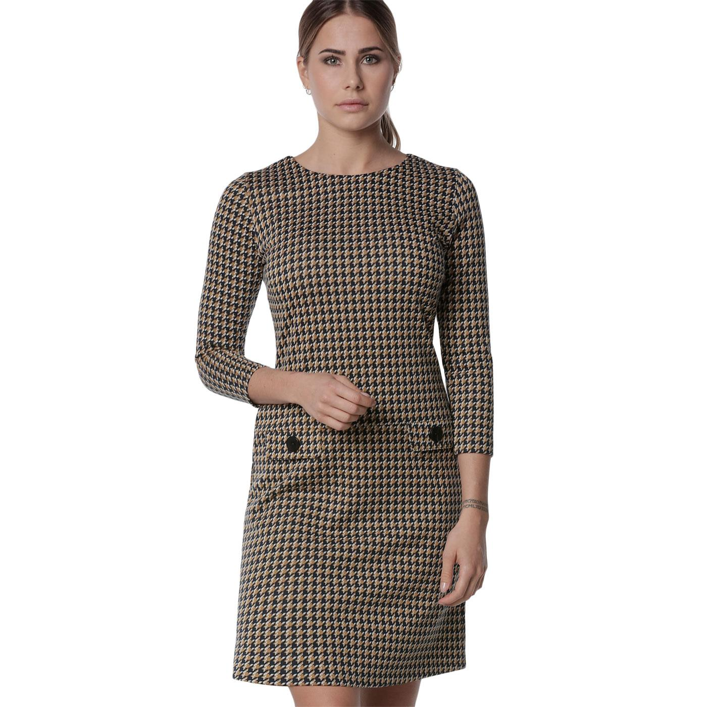 MADEMOISELLE YEYE Nine to Five Mod Dogtooth Dress