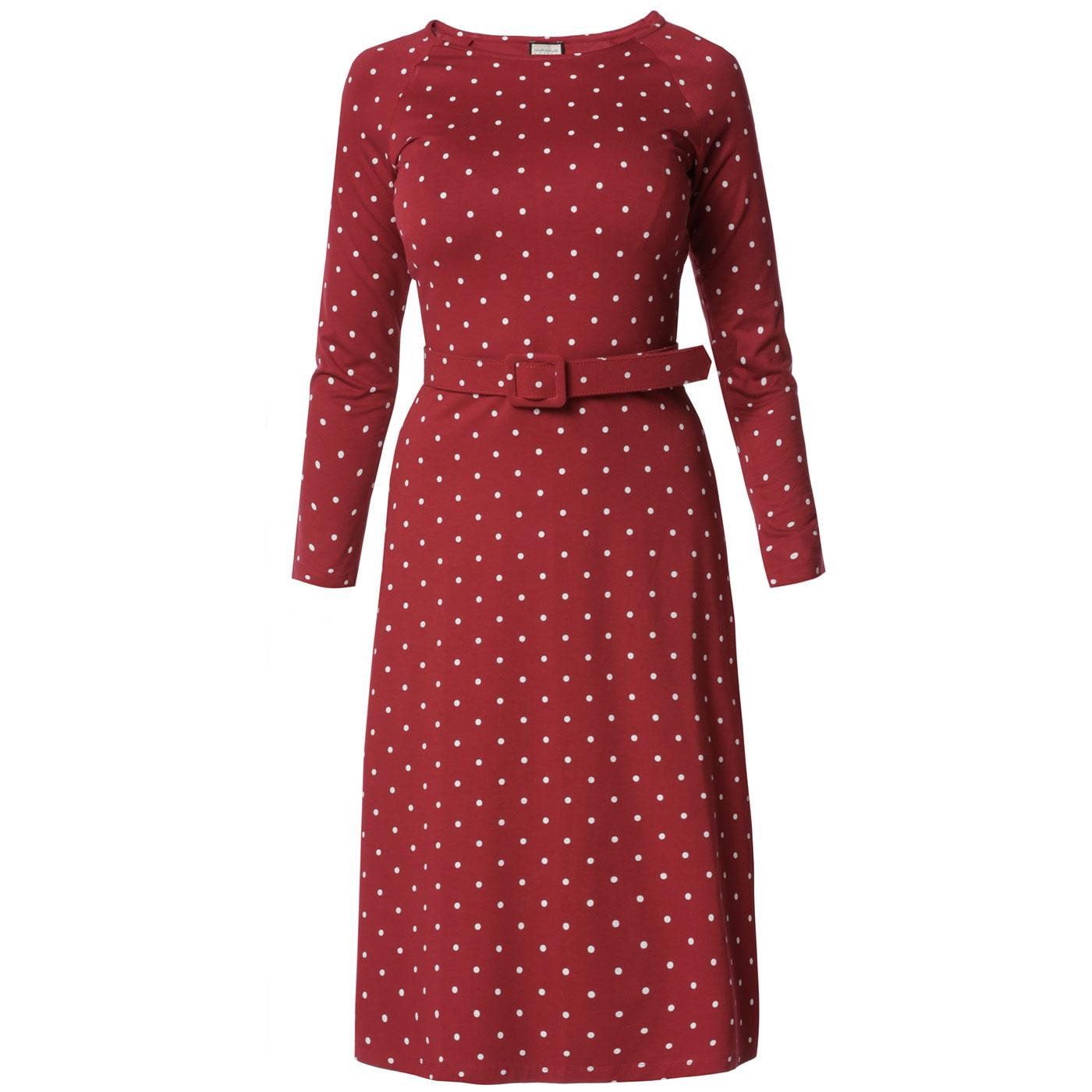 MADEMOISELLE YEYE Let Leaves Dance Polka Dot Dress