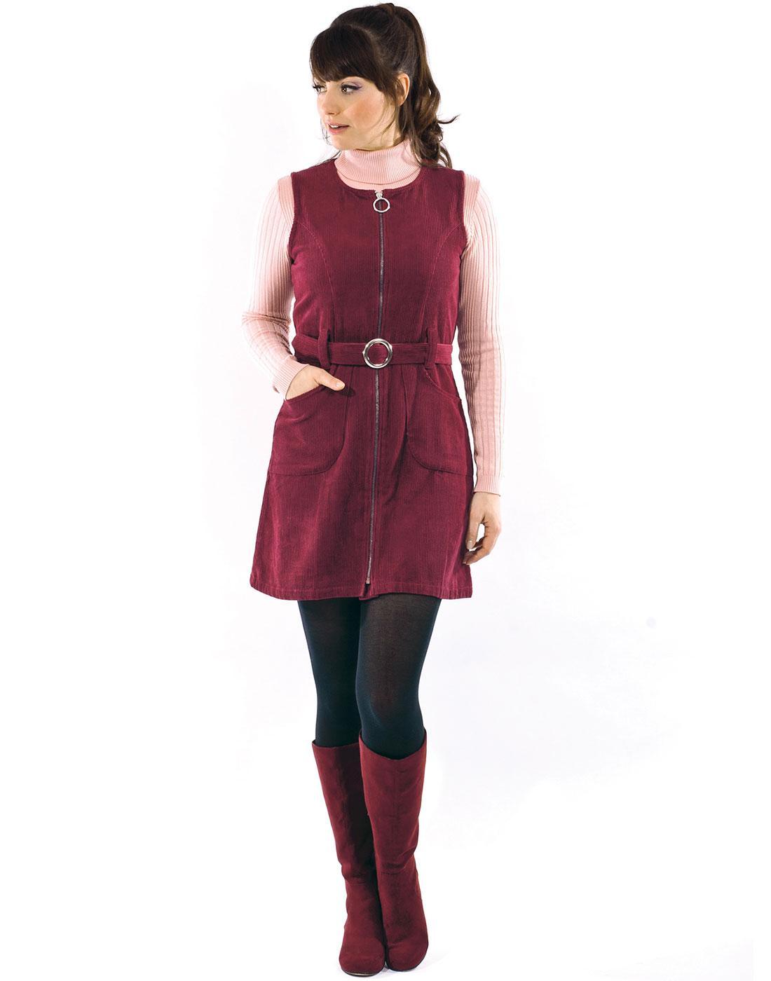 Pixie MADEMOISELLE YEYE Retro 70s Pinafore Dress
