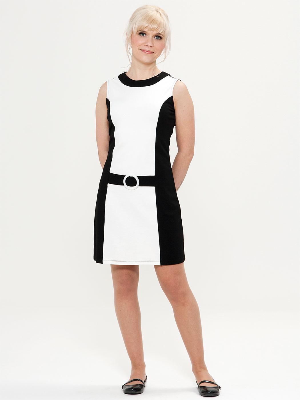 Cherry MADEMOISELLE YEYE 60s Mod Faux Belt Dress
