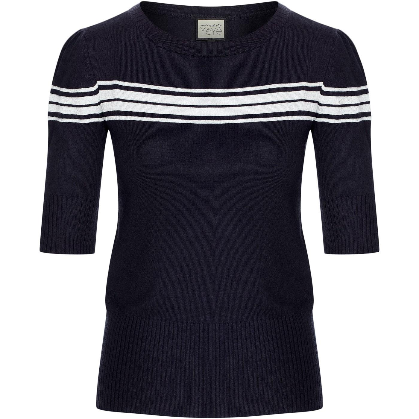 I Got Stripes MADEMOISELLE YEYE Knitted Top NAVY