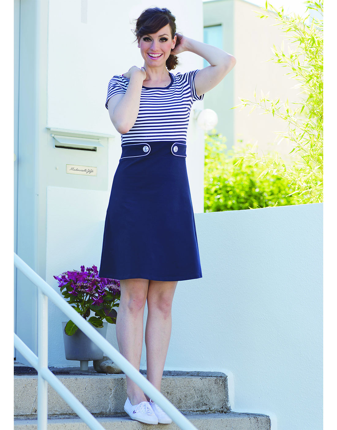 Isla MADEMOISELLE YEYE Retro 60s Stripe Mod Dress