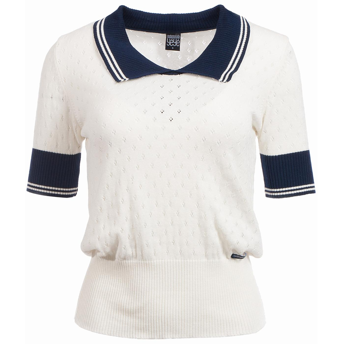Kate MADEMOISELLE YEYE Mod Perf Knit Polo Top (W)