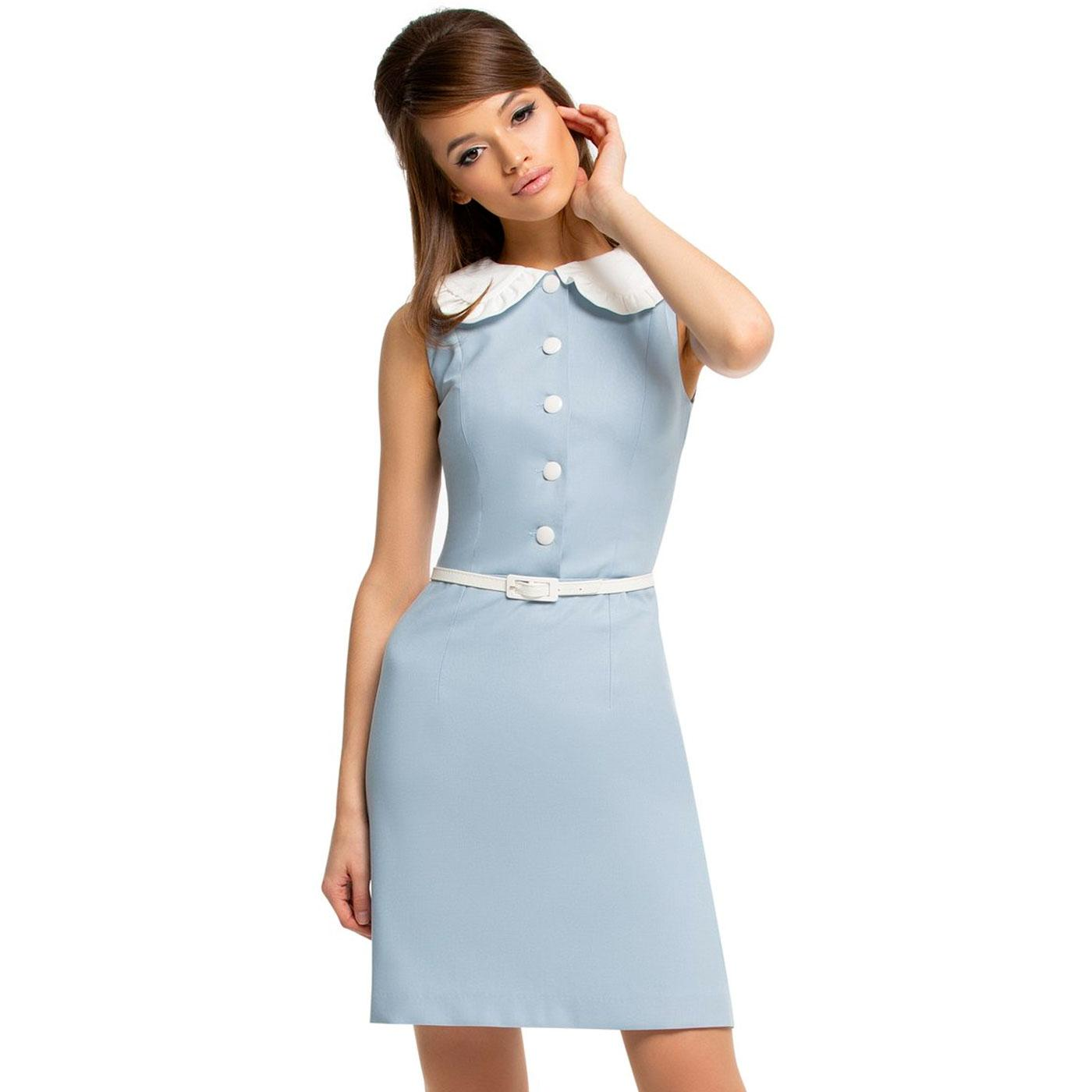 MARMALADE Ruffle Peter Pan Collar Mod Dress (DB)