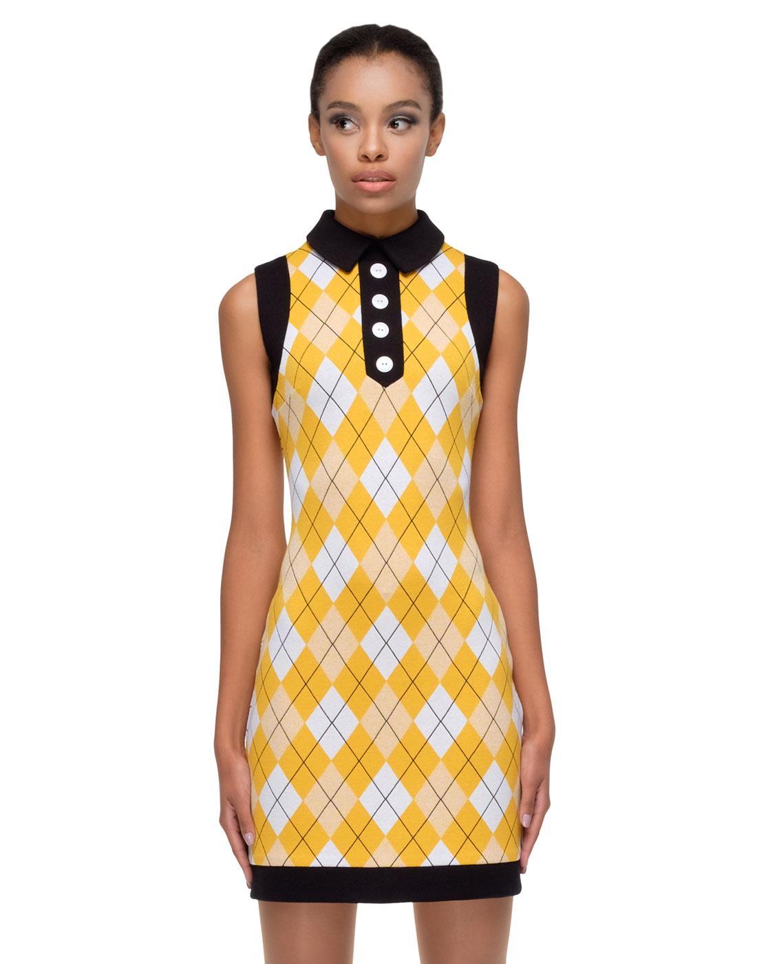 MARMALADE Retro 60s Argyle Mod Summer Dress