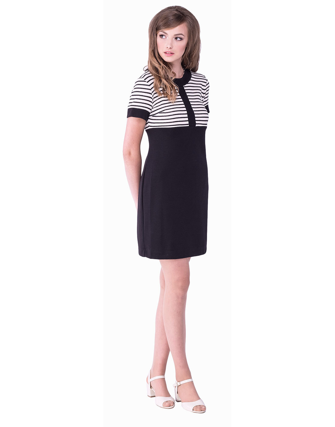 MARMALADE 1960s Mod Nautical Stripe Panel Dress