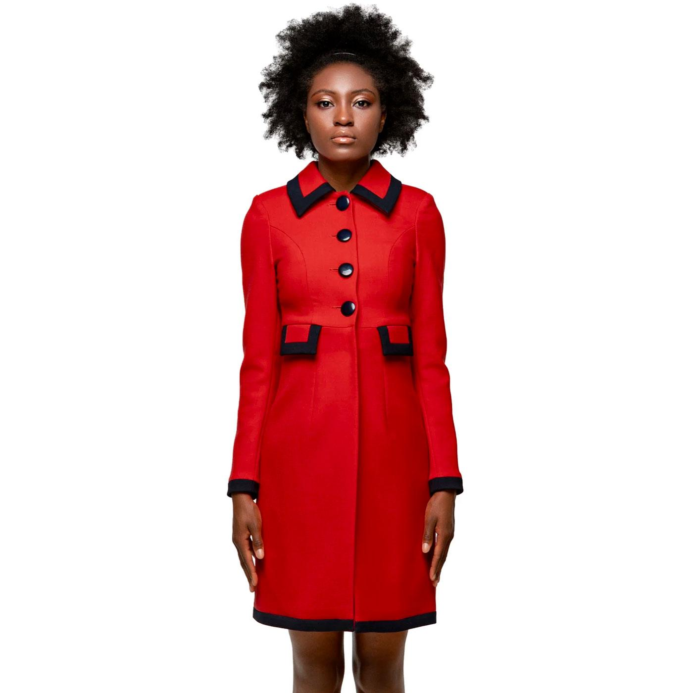 MARMALADE Retro Autumn Coat With Faux Pockets