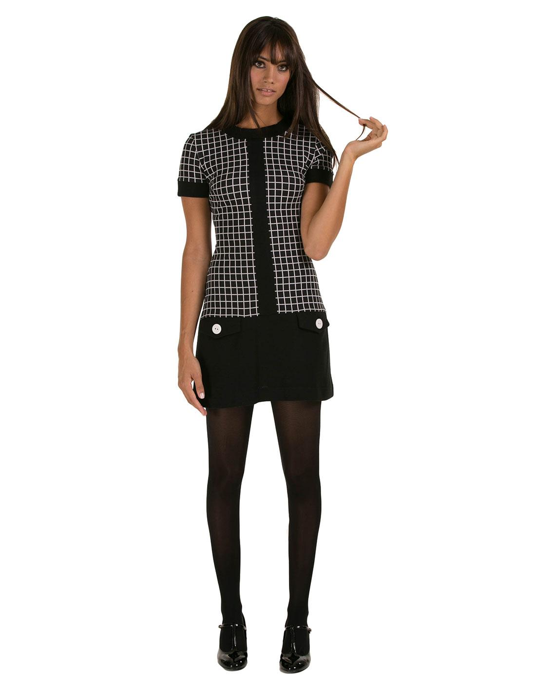 MARMALADE Retro 60s Centre Stripe Mod Dress