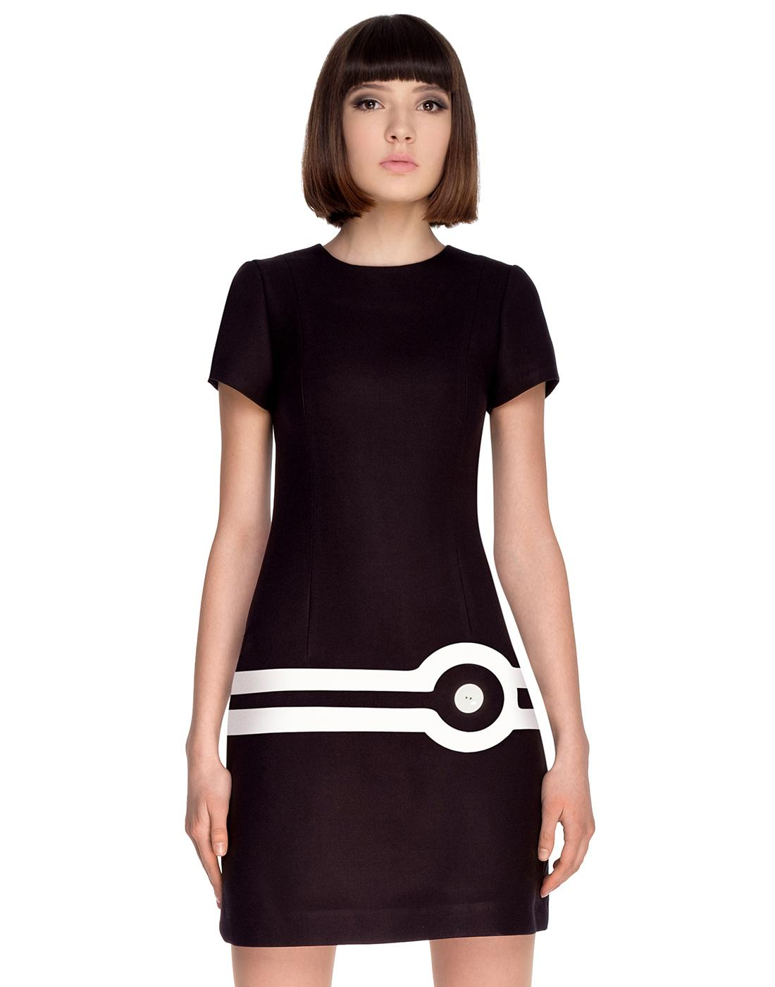 MARMALADE Retro 60s Mod Target Dress in Black