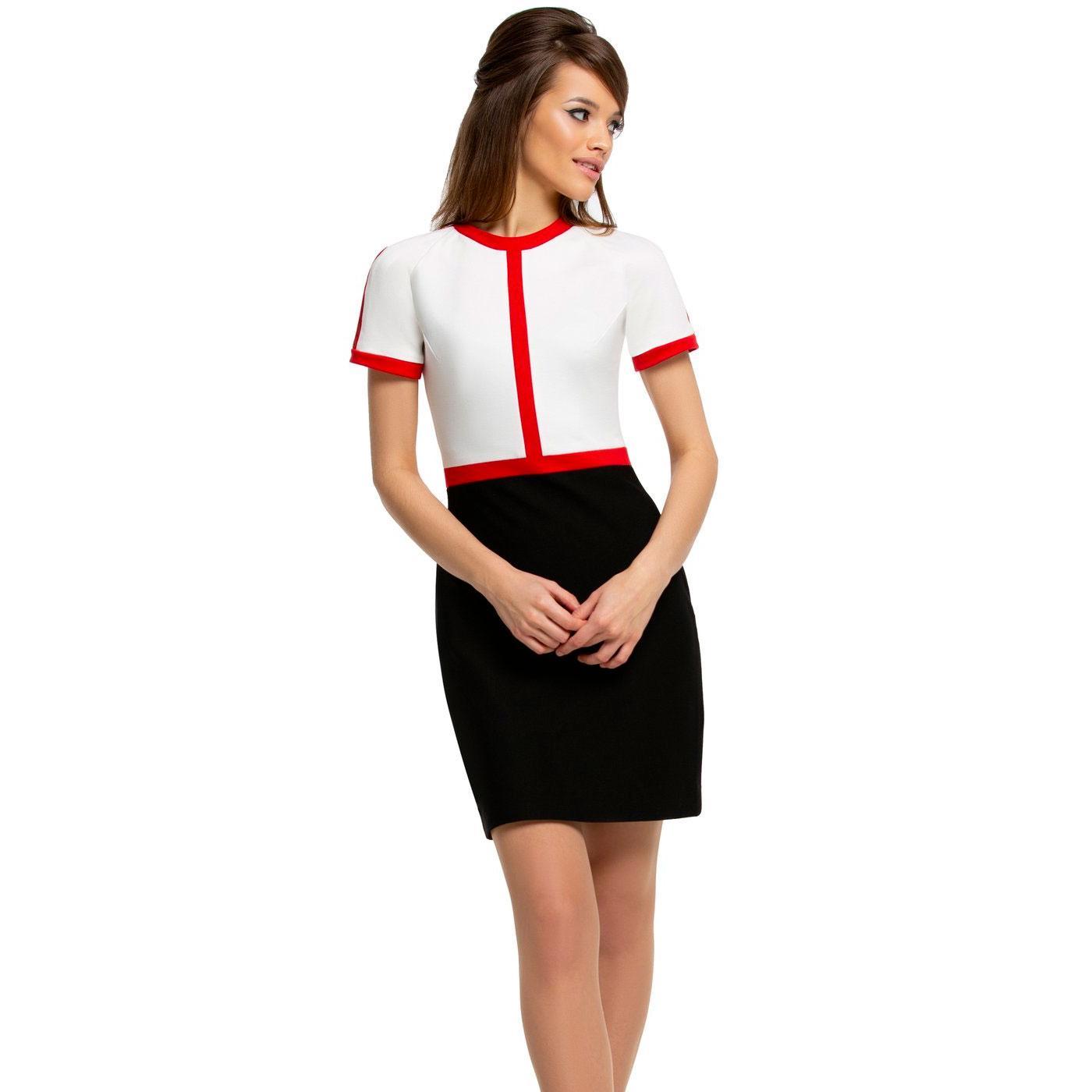 MARMALADE 60s Mod Colour Block Mini Dress (B/R/LC)