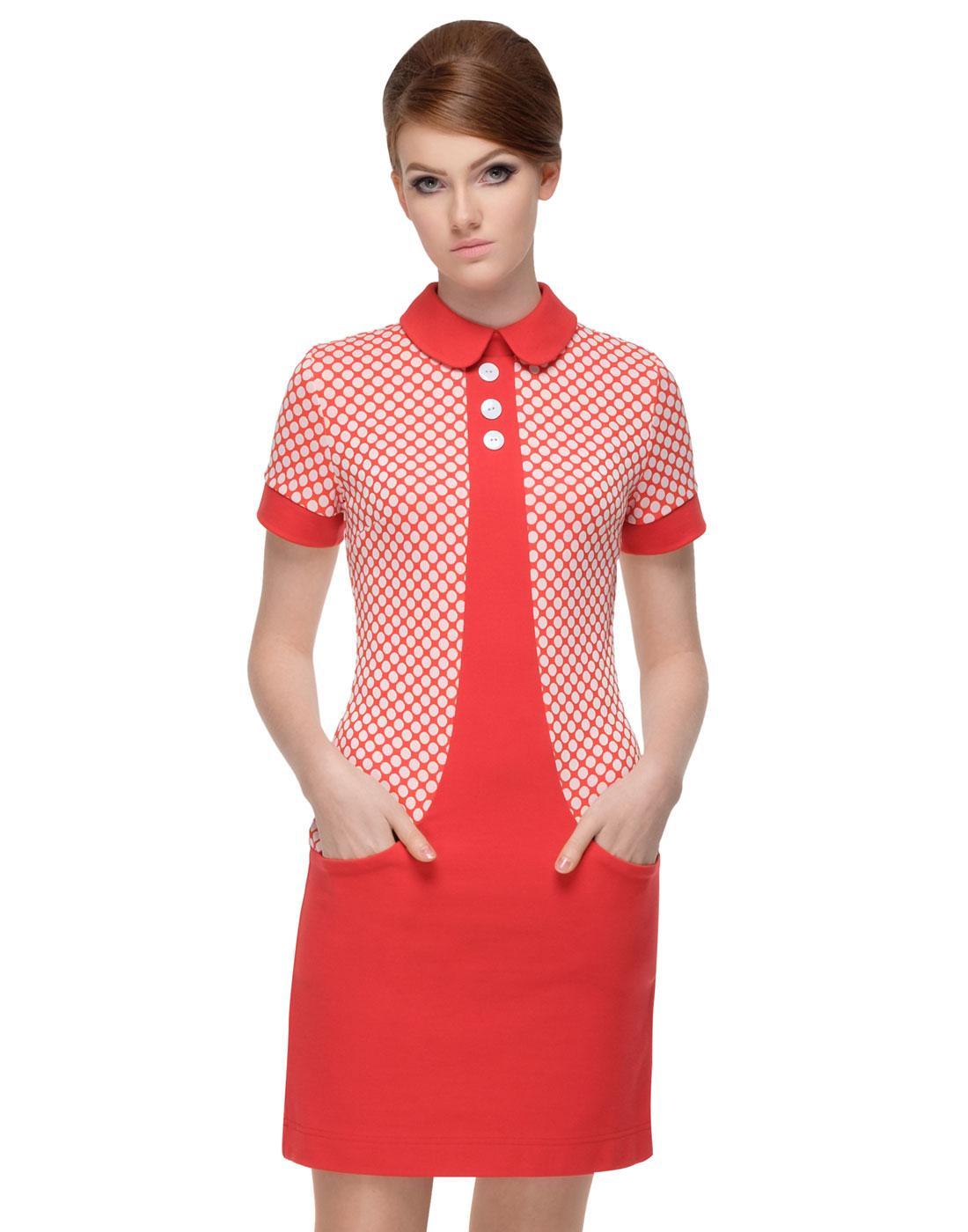 MARMALADE Retro 60s Mod Polka Dot Pocket Dress