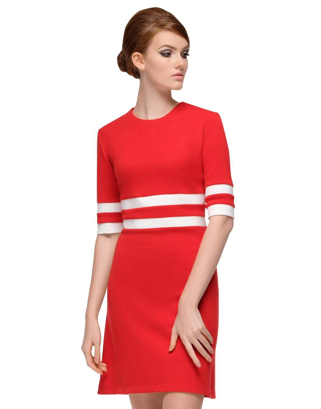 MARMALADE Retro 60s Mod Summer Dress in Red