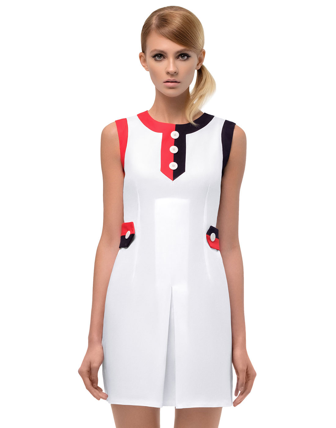 MARMALADE 1960s Mod Tennis Style Front Pleat Dress