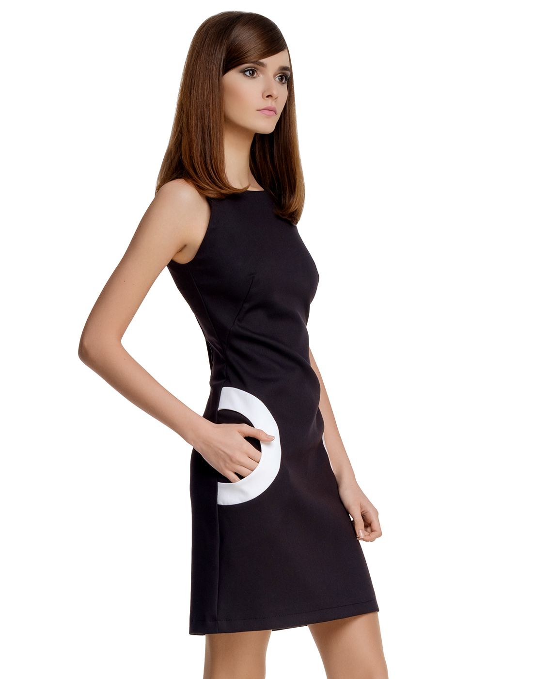 342818034ec Marmalade Retro 60s Mod Circle Pocket Dress In Black White