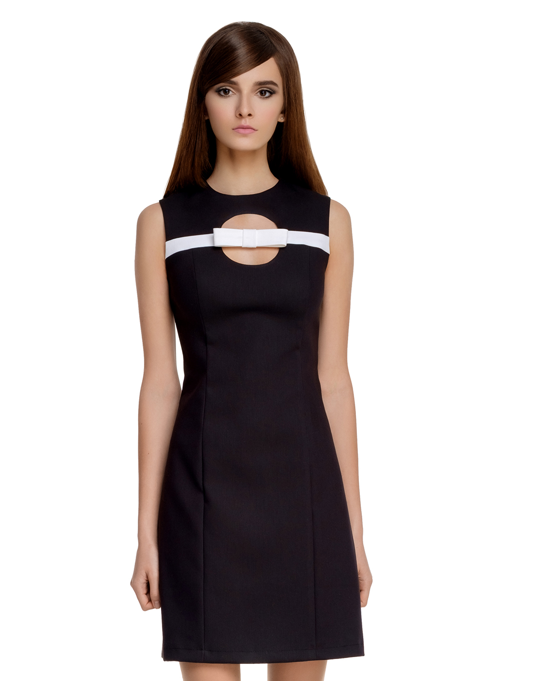 MARMALADE Retro 60s Mod Cut-Out Bow Dress in Black
