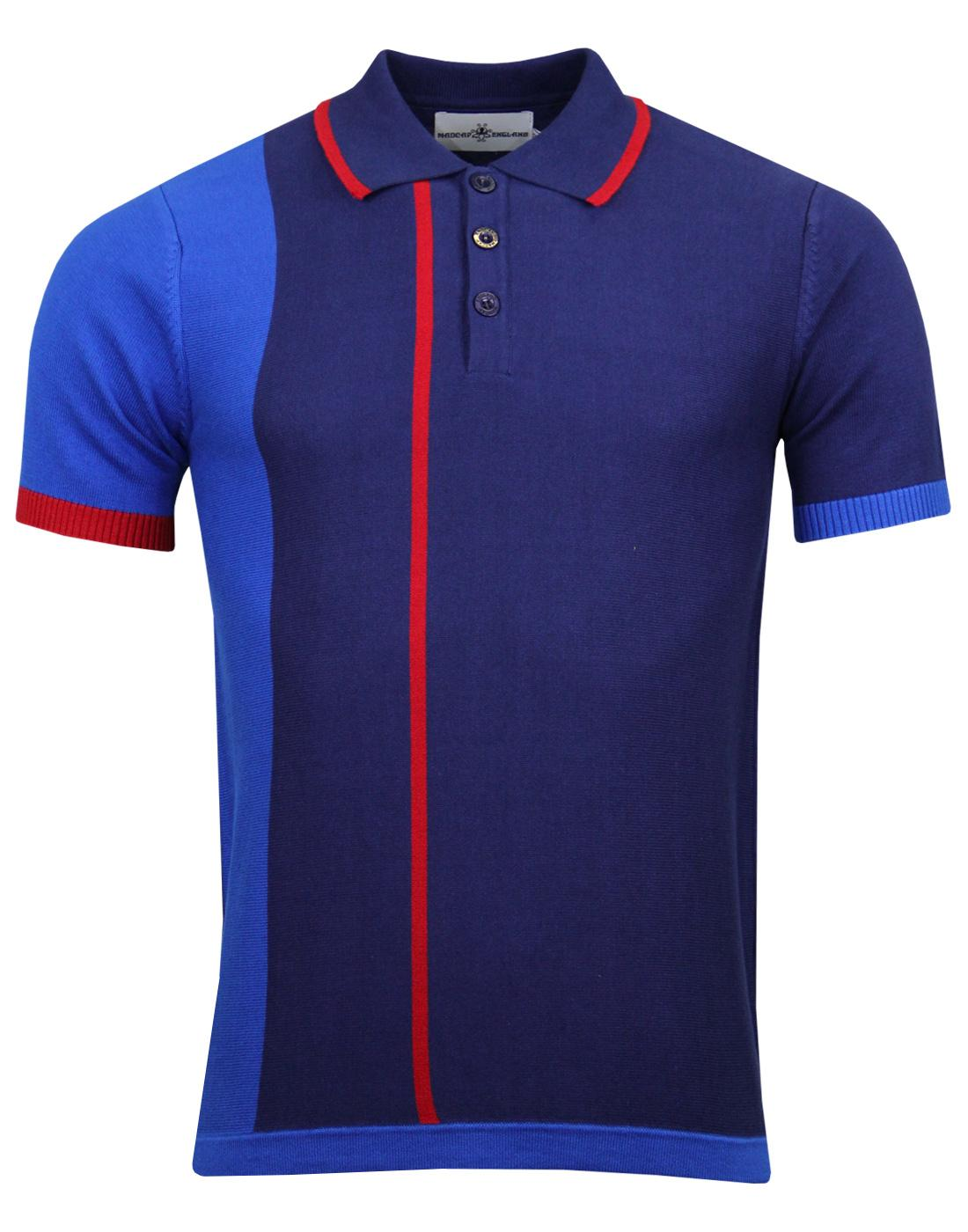 madcap england panel stripe polo blue mod