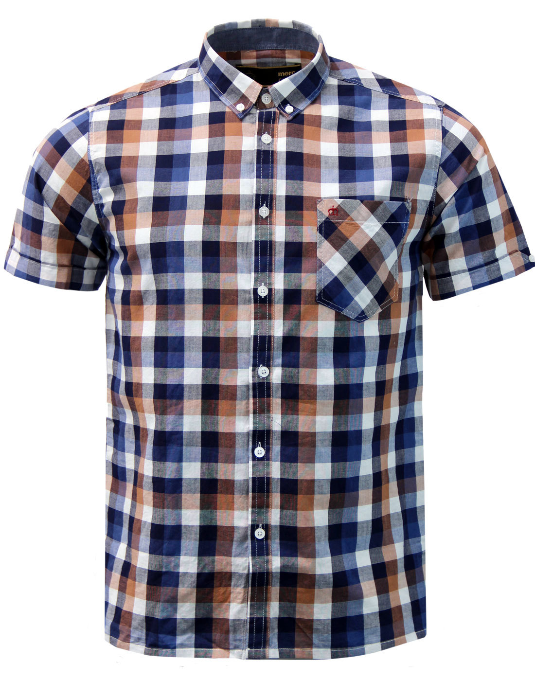 Ashford MERC Mod Block Check Button Down Shirt