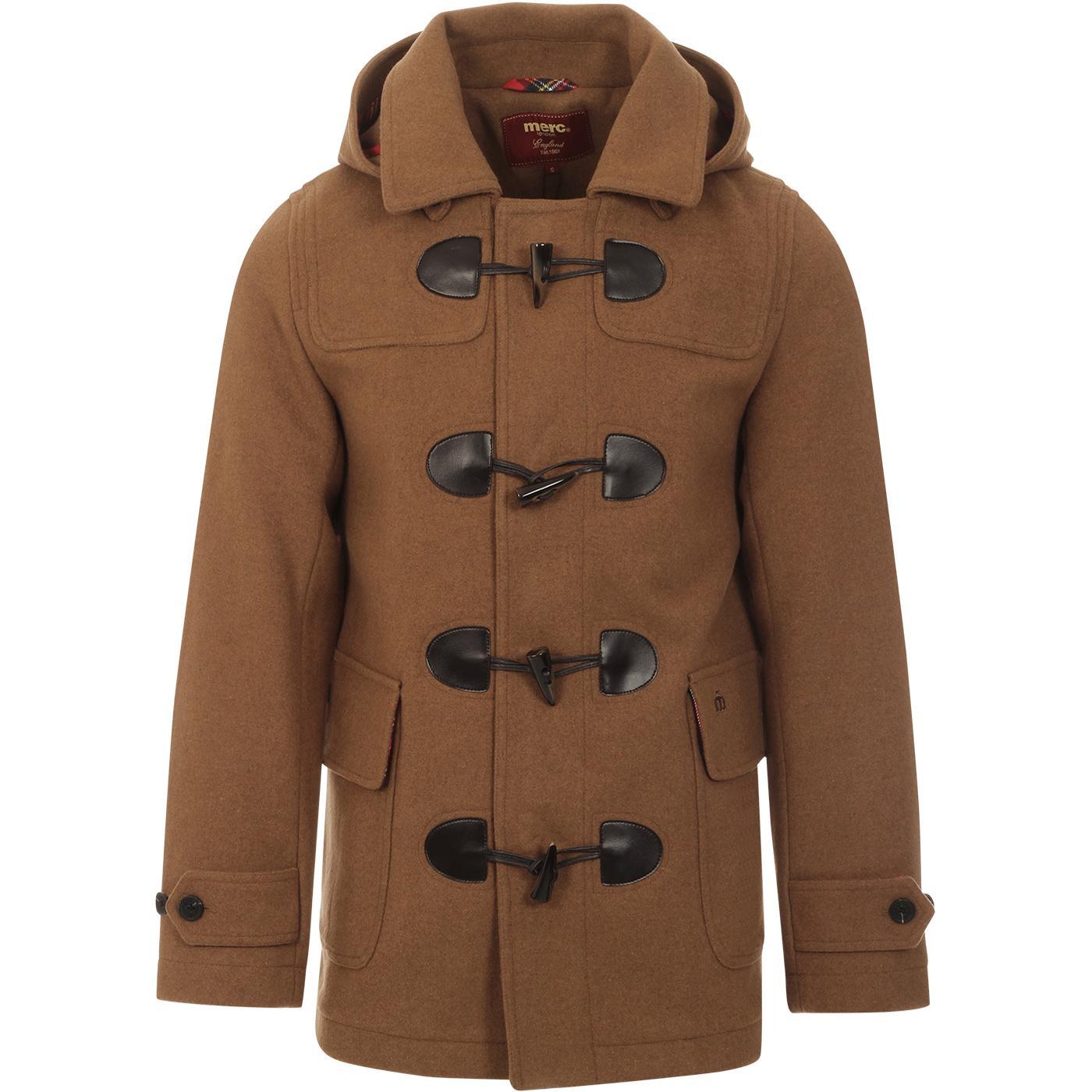 Bonner MERC Retro Mod Melton Duffle Coat (Tan)