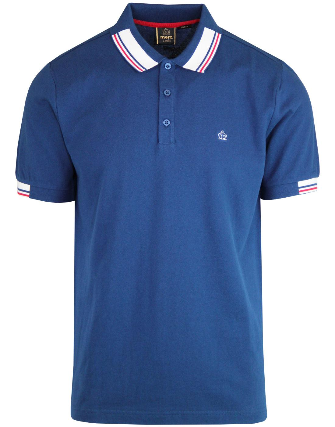 Brigade MERC Retro Mod Stripe Collar Polo Shirt