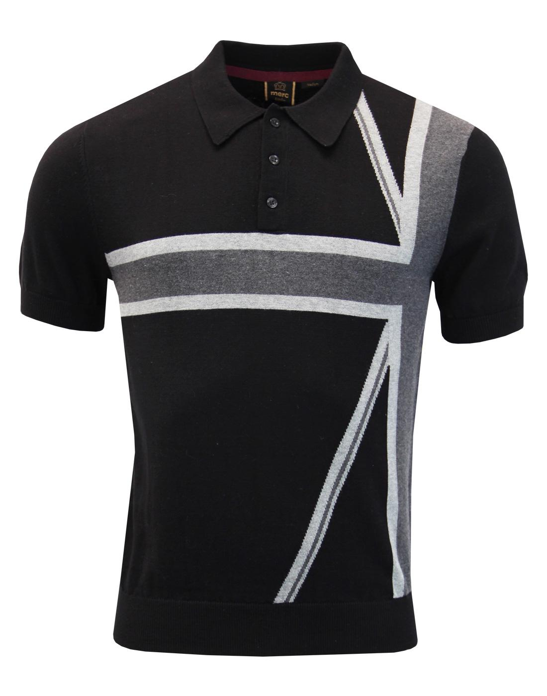 Castle MERC Retro Mod Union Jack Knit Polo Top (B)