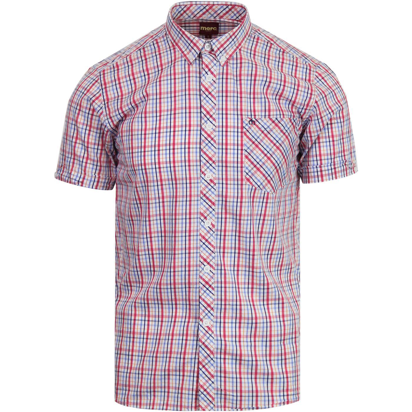 Ridley MERC Retro Mod Multi Check S/S Shirt RED