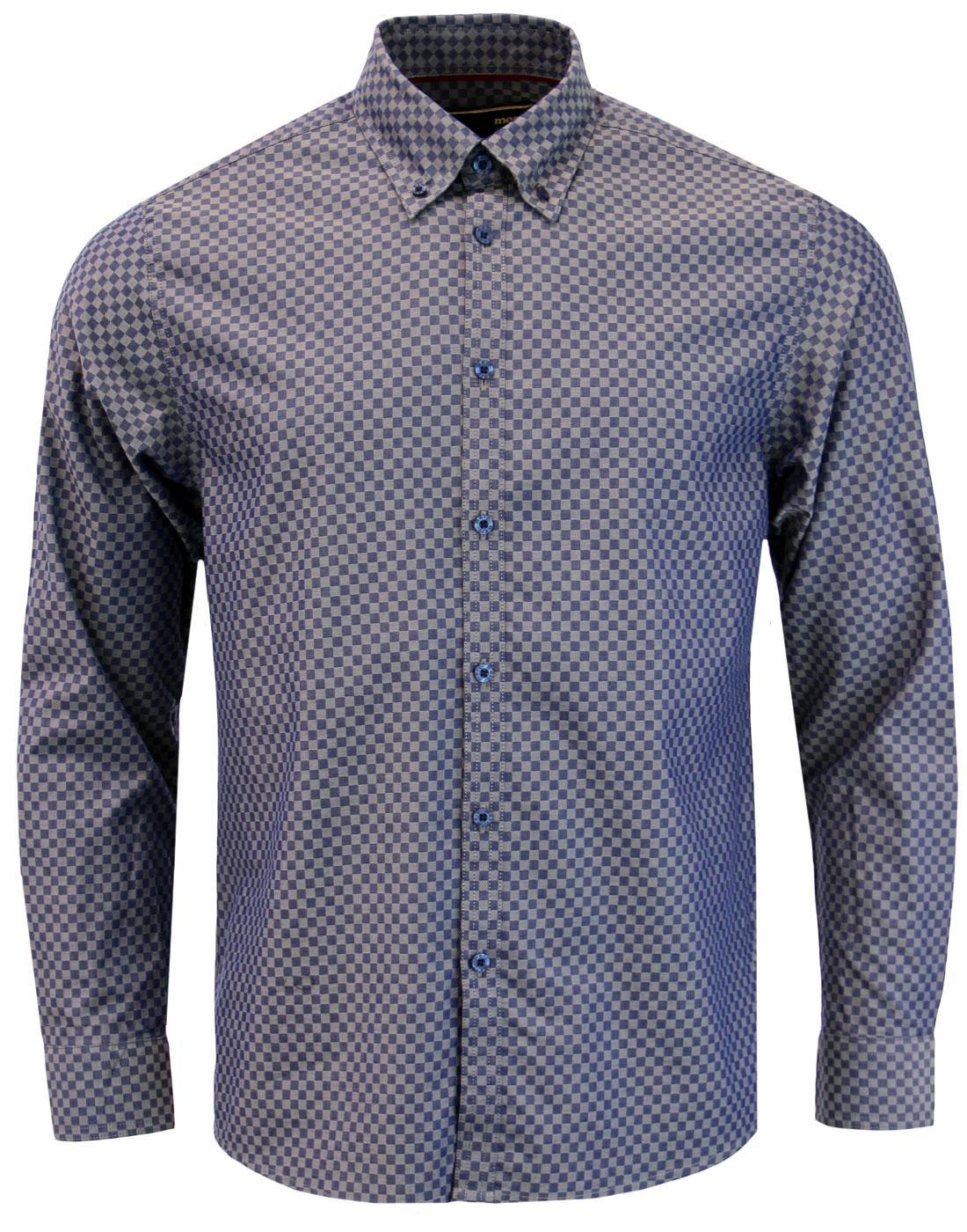 Coombe MERC Mod Ska Check Button Down Shirt (DB)