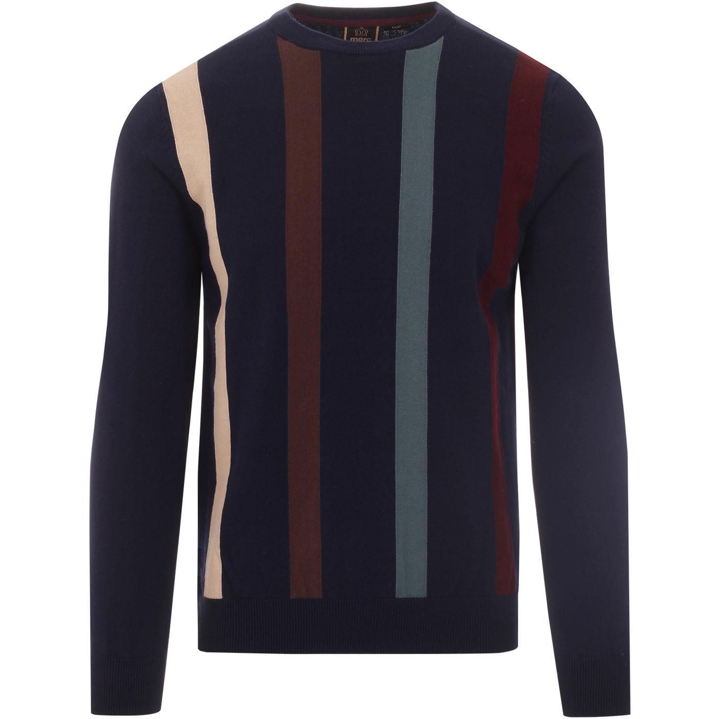 Darren MERC 1960s Mod Stripe Panel Jumper (Navy)
