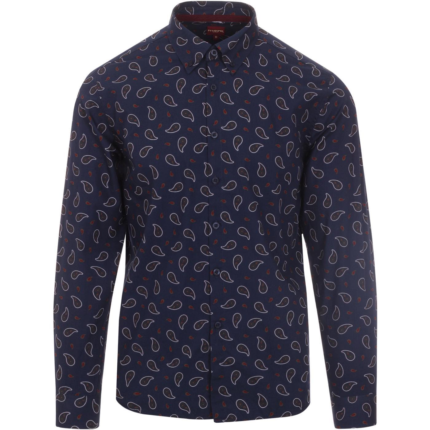 Endell MERC Mod Paisley Print Button Down Shirt N