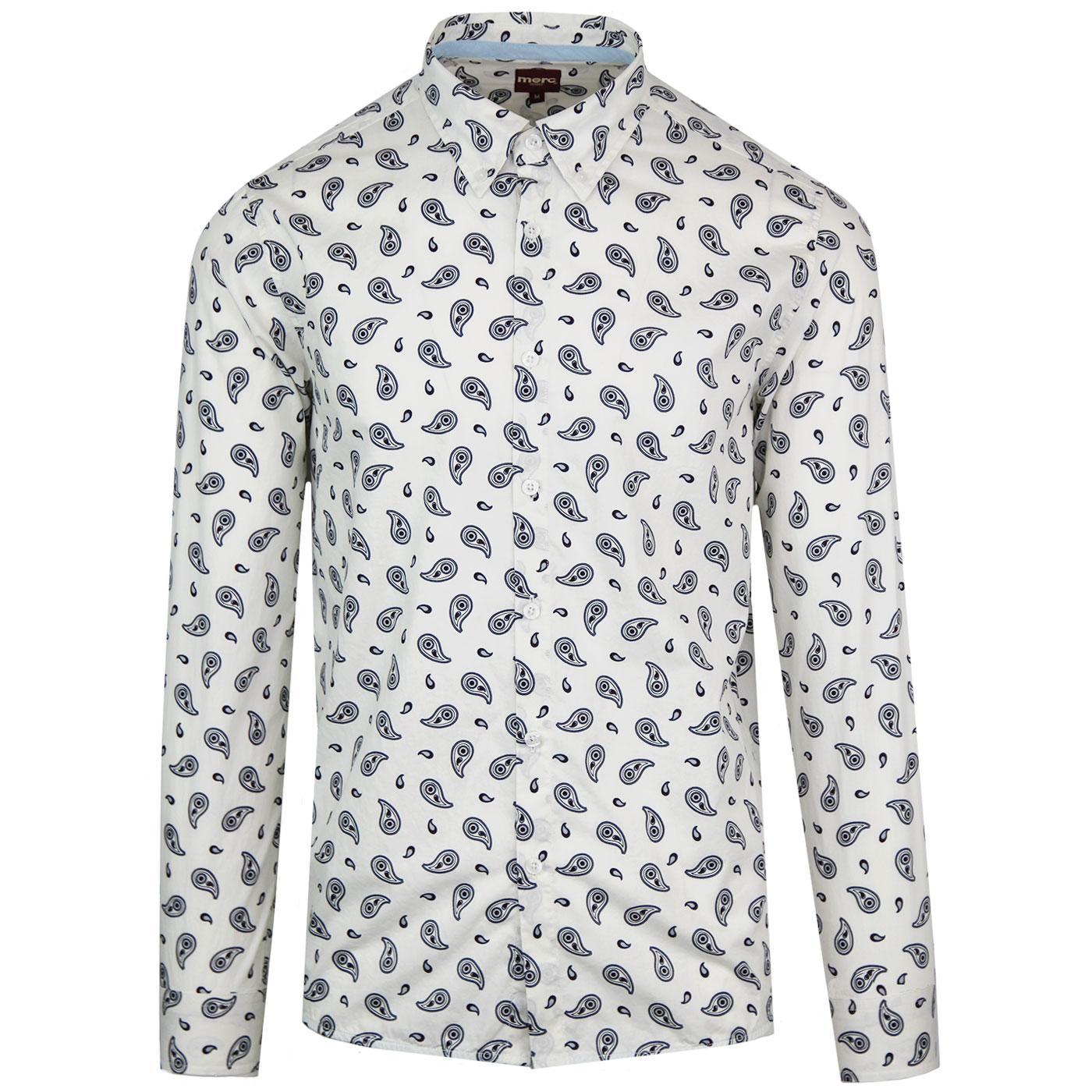 Endell MERC 60s Paisley Print Button Down Shirt W