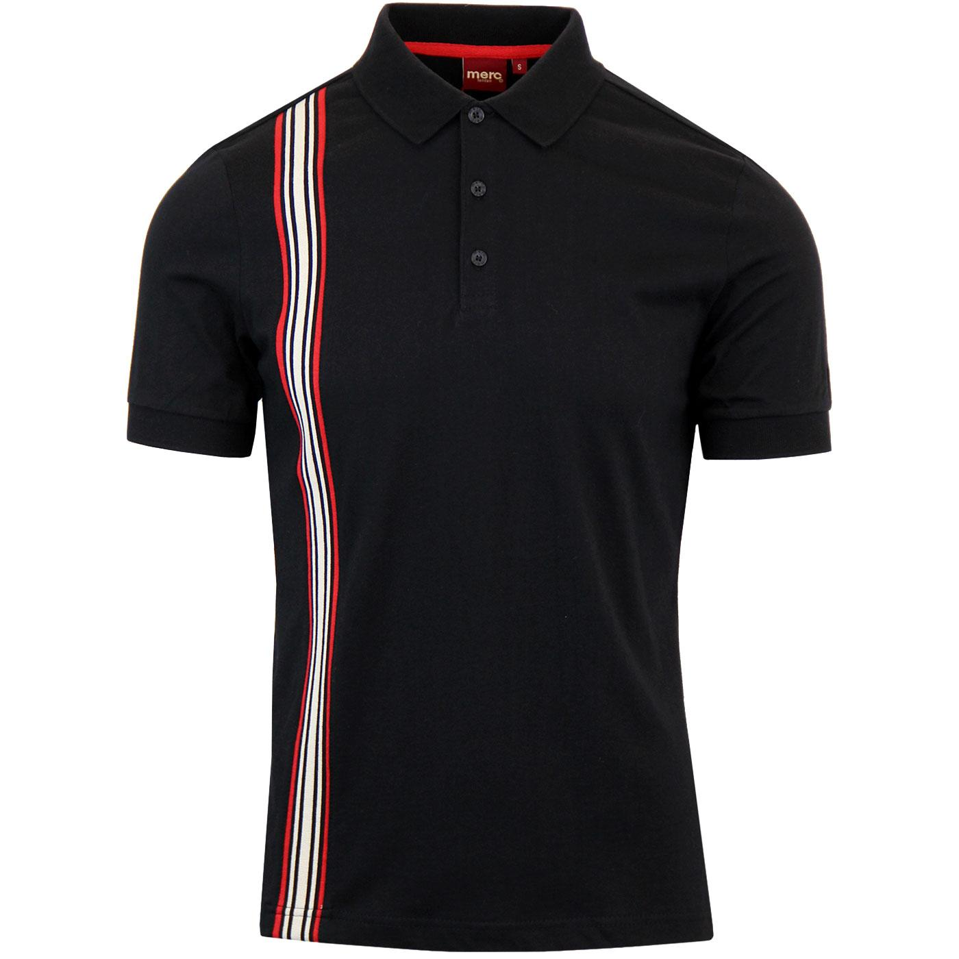 Goldhawk MERC Retro Racing Stripe Panel Polo (B)