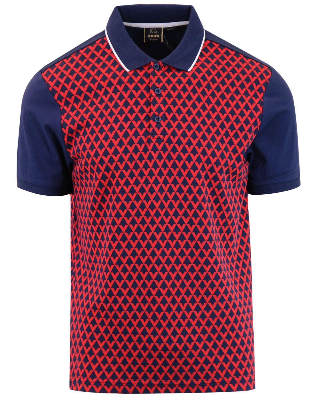 Gunner MERC 1960s Mod Diamond Jacquard Polo Shirt
