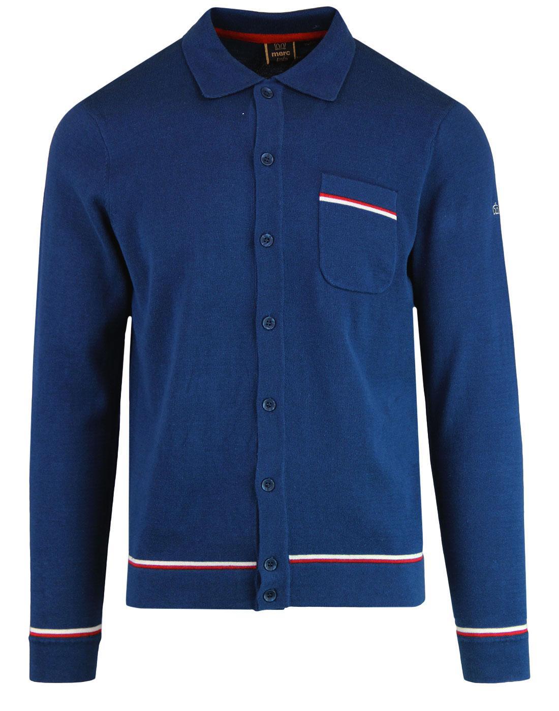 Hadwin MERC Retro 60s Mod Tipped Pocket Polo Shirt